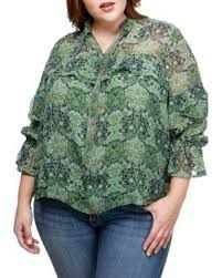 high neck ruffle blouse amazing shopping savings lucky brand plus size high neck ruffle