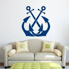 online get cheap anchor wall decal aliexpress com alibaba group anchor wall decal sticker nautical wall decor sea ocean wall stickers for kids room boy
