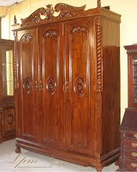 lemari pakaian jati ukir 3 pintu lemari pakaian minimalis