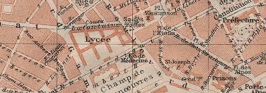 bureau vall grenoble grenoble antique town city plan de la ville is re carte baedeker