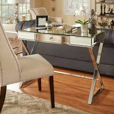 Overstock Home Office Desk by Add Some Glamour And Functionality To Any Space With This Mirrored