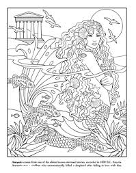 pretty design ideas mermaid coloring book 132 lineart