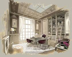 Interior Design Sketches by French Classic Study Interior Http Interior Design Pro En House