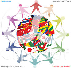 World Flag Royalty Free Rf Clipart Illustration Of A Circle Of People