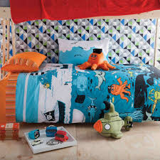 kas kids under the sea printed single bed quilt cover set