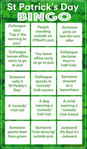 s day bingo the only st s day bingo card you need
