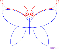 how to draw a cartoon butterfly step by step butterflies