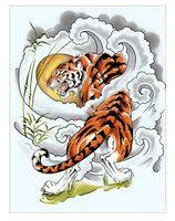 japanese tiger japanese tiger half sleeve by