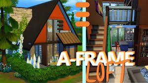tiny a frame loft the sims 4 house building youtube