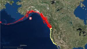 Gulf Of Alaska Map Tsunami Warnings Watches Issued After Gulf Of Alaska Earthquake