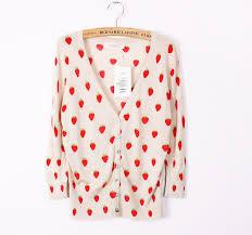 strawberry sweater 2016 summer strawberry sweater s regular style print shirt v