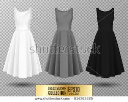 women s dress womens dress mockup collection dress stock vector 614363825