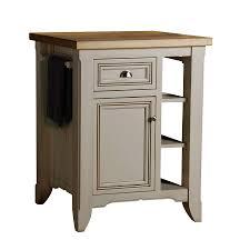 lowes kitchen islands shop allen roth 28 in l x 24 in w x 36 in h glazed white kitchen