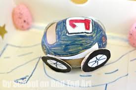 Easter Egg Decorating Ideas Competition by Egg Decorating Racing Car Red Ted Art U0027s Blog