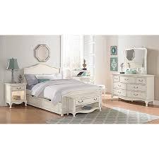 ne kids kensington charlotte antique white upholstered full size
