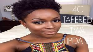 mid length tapered 4c hair 4 month 4c tapered twa hairfinity update youtube