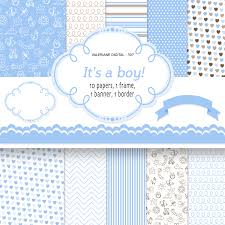 baby boy digital paper backgrounds instant baby
