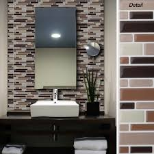 tile bathroom walls ideas kitchen interior beautiful metal aspect peel and stick self