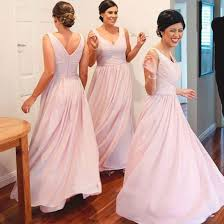 blush pink chiffon summer wedding bridesmaid dresses simple short