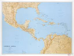 Maps Of The Caribbean by Large Scale Political Map Of The Caribbean America With Relief