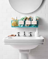 bathroom organization tips martha stewart