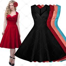 women vintage 1950 u0027s rockabilly v neck cocktail party swing