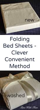 Folding Bed Sheets Folding Bed Sheets Clever Convenient Method