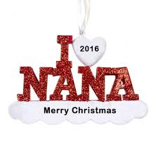 i love nana personalized christmas ornament christmas and city