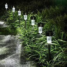 solar lawn lamp solar powered led path light outdoor waterproof