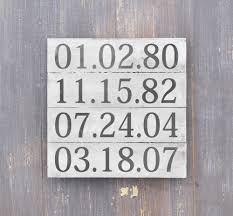 Home Decor Wooden Signs Important Date Sign 5th Anniversary Gift Rustic Wood Plank Sign