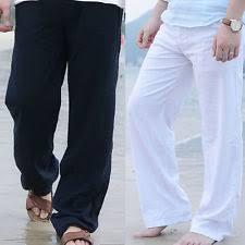 mens beach fashion mens linen beach pants ebay