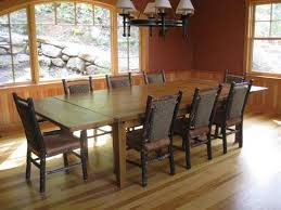 dining room rustic dining room buffet slate table copper chairs