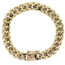 link bracelet images 14kt yellow gold men 39 s cuban link bracelet jpg