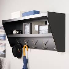 prepac 48 5 in x 19 25 in floating entryway shelf and coat rack
