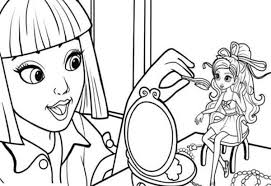 vanessa barbie thumbelina coloring pages vanessa