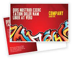 free microsoft word postcard template graffiti postcard template in microsoft word adobe indesign