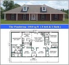 Ponderosa Floor Plan Heritage Home Designs North West Florida