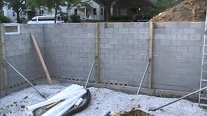 exterior basement waterproofing how it looks before you backfill