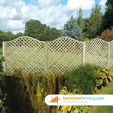 omega diamond trellis fence panels 5ft x 6ft brown berkshire fencing