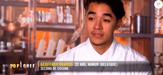 m6 cuisine top chef geoffrey top chef 2018 sur m6 le 31 janvier 2018 purepeople