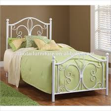 2016 design white queen size iron bed frame double size metal