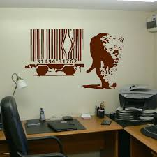 banksy wall sticker lion barcode escape new art uk transfer decal banksy wall sticker lion barcode escape new art uk transfer decal room wall sticker wakk decoration stickers in wall stickers from home garden on