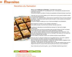 cuisine marmiton recettes recettes pour le ramadan le site marmiton submergé de messages
