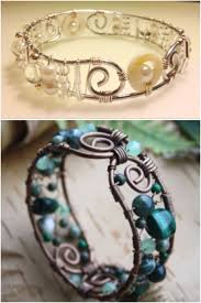 make bead bracelet wire images 248 best wire wrapped bracelets images wire jpg