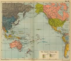 Map Of Oceans Of The Pacific Ocean 1910