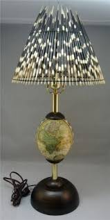 Quill Desk Lamp Genuine Ostrich Egg Lamp Stand With Real Porcupine Quill Lamp
