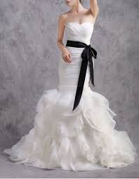 wedding dresses belts glamorous mermaid ruffle skirt wedding dresses with