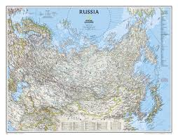 Map Russia Russia Classic Wall Maps Countries U0026 Regions National Geographic