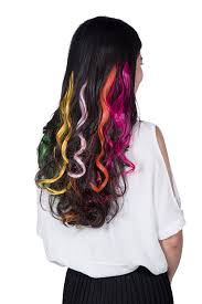 feshfen new year sale 18 multi colors curly wave clip in hair