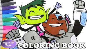 teen titans go beast boy and cyborg coloring book ttg coloring